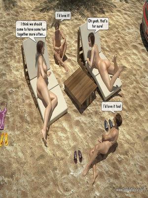 FamilyFancy3D- Family orgy at the beach  Comics