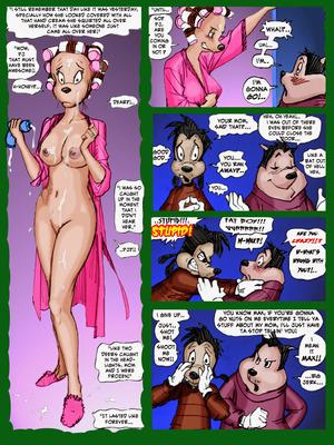 PBX- Goof Troop Peggy Cums Camping  Comics